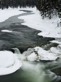 Snowy River and Winter Landscape, Yellowstone National Park, UNESCO World Heritage Site, Wyoming, U Photographic Print by Kimberly Walker