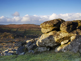 Evening Light, Hound Tor, Dartmoor National Park, Devon, England, United Kingdom, Europe Photographic Print by Jeremy Lightfoot