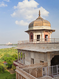 Taj Mahal, UNESCO World Heritage Site, across the Jumna (Yamuna) River from the Red Fort, Agra, Utt Photographic Print by Gavin Hellier