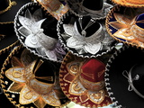 Sombreros, Municipal Market, Oaxaca City, Oaxaca, Mexico, North America Photographic Print by Wendy Connett