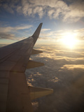 View from Window of Boeing 737-800 En Route from Australia to New Zealand at Sunset, Australia, Pac Photographic Print by Nick Servian