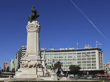 The Marquess of Pombal Monument, a Major Roundabout and Landmark in Praca Do Marques De Pombal, Cen Photographic Print by Stuart Forster