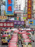 Street Scene and Mini Bus Station, Mong Kok, Kowloon, Hong Kong, China, Asia Photographic Print by Gavin Hellier