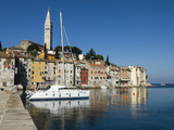 Old Town and St Euphemia's Church, Rovinj, Istria, Croatia, Adriatic, Europe Photographic Print by Stuart Black