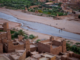 Lookink Down on the Kasbah, Ait-Benhaddou, UNESCO World Heritage Site, Morocco, North Africa, Afric Photographic Print by Simon Montgomery