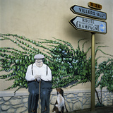 Wall Art, Near Reims, Champagne, France, Europe Photographie par Stuart Black