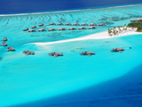Aerial View of Resort, Maldives, Indian Ocean, Asia Photographic Print by Sakis Papadopoulos