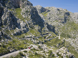 The Winding Mountain Road to Sa Calobra, Mallorca, Balearic Islands, Spain, Europe Photographie par Ruth Tomlinson