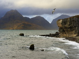 View to Cuillin Hills from Elgol Harbour, Isle of Skye, Inner Hebrides, Scotland, United Kingdom, E Photographic Print by Peter Richardson