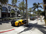 Luxury Car Parked on Rodeo Drive, Beverly Hills, Los Angeles, California, United States of America, Photographic Print by Gavin Hellier