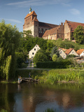Romanesque St. Mary Cathedral Dominates Town of Havelberg on the Havel River, Saxony-Anhalt, German Photographic Print by Richard Nebesky
