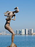 Mermaid Angel Playing Saxophone Sculpture on the Malecon, Puerto Vallarta, Jalisco, Mexico, North A Photographic Print by Michael DeFreitas