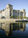 River Spree at Government District, Reichstag, Berlin, Germany, Europe Photographic Print by Hans-Peter Merten