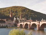 The Alte Brucke (Old Bridge) in Old Town, Heidelberg, Baden-Wurttemberg, Germany, Europe Photographic Print by Michael DeFreitas