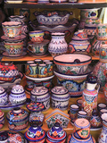 Talavera Pottery, El Parian Market, Puebla, Historic Center, Puebla State, Mexico, North America Photographic Print by Wendy Connett