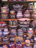 Talavera Pottery, El Parian Market, Puebla, Historic Center, Puebla State, Mexico, North America Photographic Print by Wendy Connett