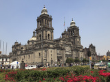 Metropolitan Cathedral, the Largest Church in Latin America, Zocalo, Plaza De La Constitucion, Mexi Photographic Print by Wendy Connett