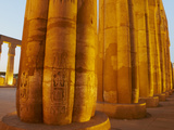 Colonnades, Pillars of Stone, Temple of Luxor, Thebes, UNESCO World Heritage Site, Egypt, North Afr Photographic Print by  Tuul