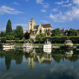 River Doubs and the Notre Dame Collegiate Church, Dole, Burgundy, France, Europe Photographic Print by Stuart Black