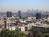 Hollywood and Downtown Skyline, Los Angeles, California, United States of America, North America Photographic Print by Wendy Connett