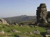 Haytor Rocks Seen from Hound Tor, Dartmoor National Park, Devon, England, United Kingdom, Europe Photographic Print by James Emmerson