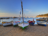 Fishing Boats at Dawn, Calella De Palafrugell, Costa Brava, Catalonia, Spain, Mediterranean, Europe Fotografisk tryk af Stuart Black