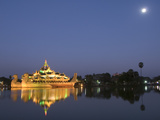Karaweik Barge in the Late Evening, Kandawgyi Lake, Yangon (Rangoon), Myanmar (Burma), Asia Photographic Print by Richard Maschmeyer