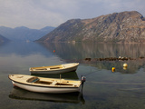 Boats Moored in the Fjord at Kotor Bay, Kotor, UNESCO World Heritage Site, Montenegro, Europe Photographic Print by Martin Child