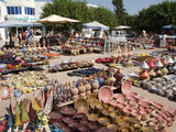 Pottery Products in the Market at Houmt Souk, Island of Jerba, Tunisia, North Africa, Africa Photographic Print by Hans-Peter Merten