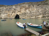 Inland Sea, Dwejra Bay, Gozo, Malta, Mediterranean, Europe Photographic Print by Hans-Peter Merten