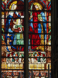 Stained Glass Window, Basilica Saint Nazaire, Carcassonne, UNESCO World Heritage Site, Aude, France Photographic Print by  Tuul