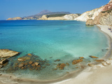 Turquoise Sea, Firiplaka Beach, Milos, Cyclades Islands, Greek Islands, Aegean Sea, Greece, Europe Photographic Print by  Tuul