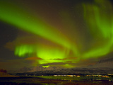 Aurora Borealis (Northern Lights) Seen over the Lyngen Alps, from Sjursnes, Ullsfjord, Troms, North Photographic Print by Neale Clark