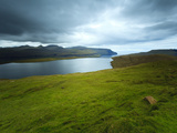 Amazing Scenery Leading Out Towards the Atlantic Ocean Located Near to Gjogv on Eysturoy Island, Fa Photographic Print by Kimberley Coole
