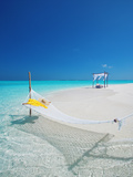 Hammock on Tropical Beach, Maldives, Indian Ocean, Asia Photographie par Sakis Papadopoulos