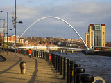 Millennium Bridge and the Baltic from the Quayside, Newcastle Upoon Tyne, Tyne and Wear, England, U Photographic Print by Mark Sunderland