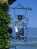 Hotel Sign, Yvoire, Lake Geneva, Rhone Alpes, France, Europe Photographic Print by Stuart Black