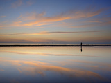 Dusk Reflections, Crosby Beach, Merseyside, England, United Kingdom, Europe Photographic Print by Chris Hepburn