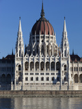 The Parliament (Orszaghaz) across River Danube, UNESCO World Heritage Site, Budapest, Hungary, Euro Photographic Print by Stuart Black
