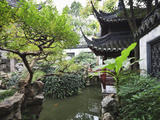 Yu Gardens (Yuyuan Gardens), the Restored 16th Century Gardens are One of Shanghai&#39;s Most Popular T Photographic Print by Amanda Hall