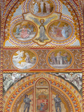 Frescoes Decorating Interior of Matthias Church (Matyas-Templom), UNESCO World Heritage Site, Buda, Photographic Print by Stuart Black