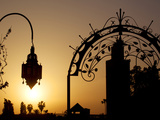 Minaret of the Koutoubia Mosque at Sunset, Marrakesh, Morocco, North Africa, Africa Fotografisk tryk af Frank Fell
