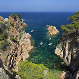Secluded Cove, Aiguaxelida, Near Palafrugell, Costa Brava, Catalonia, Spain, Mediterranean, Europe Fotografisk tryk af Stuart Black