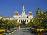 Hotel De Ville (Ho Chi Minh City Hall) Decorated for Chinese New Year, Ho Chi Minh City (Saigon), V Photographic Print by Stuart Black