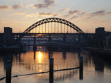 Tyne Bridge at Sunset, Spanning the River Tyne Between Newcastle and Gateshead, Tyne and Wear, Engl Photographic Print by Mark Sunderland