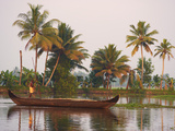 Boat on the Backwaters, Allepey, Kerala, India, Asia Photographic Print by  Tuul