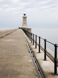 North Pier and Lighthouse, Tynemouth, North Tyneside, Tyne and Wear, England, United Kingdom, Europ Photographic Print by Mark Sunderland