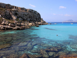 Reef and Sea, Cala Rossa, Favignana Island, Trapani, Sicily, Italy, Mediterranean, Europe Photographic Print by Vincenzo Lombardo
