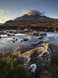 A Winter Morning View of the Mountain Sgurr Nan Gillean, Glen Sligachan, Isle of Skye, Inner Hebrid Photographic Print by Jon Gibbs