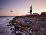 Portland Bill Lighthouse at Sunset, Dorset, England, United Kingdom, Europe Photographic Print by Julian Elliott